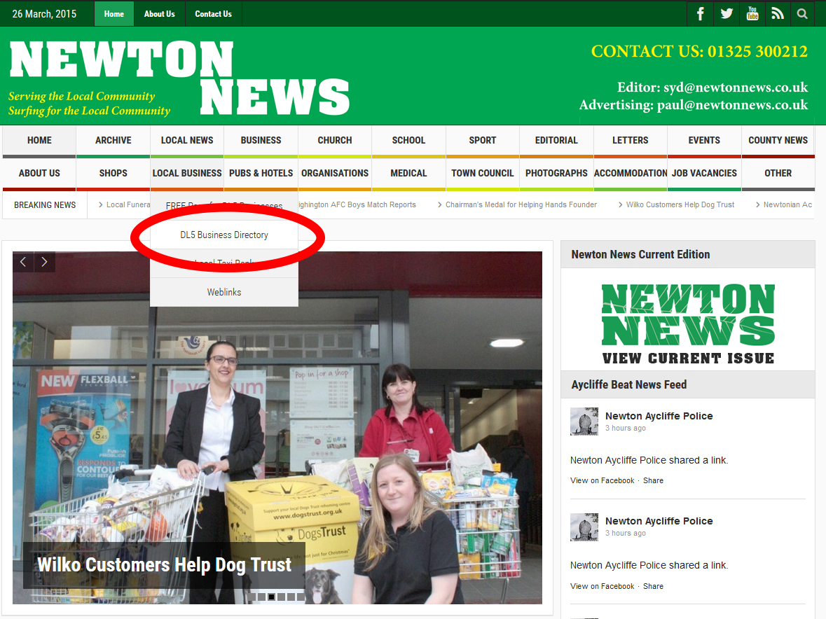 Over 200 Take up Newton News Free Web Page Offer