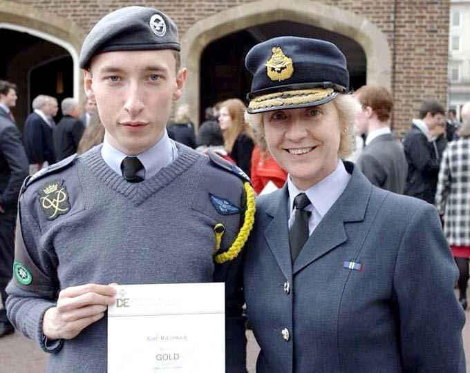 Aycliffe Cadet Receives D of E Gold Award