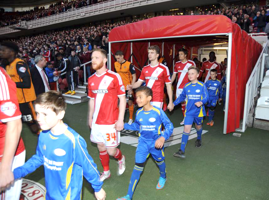 Boro Walkout for Aycliffe Team