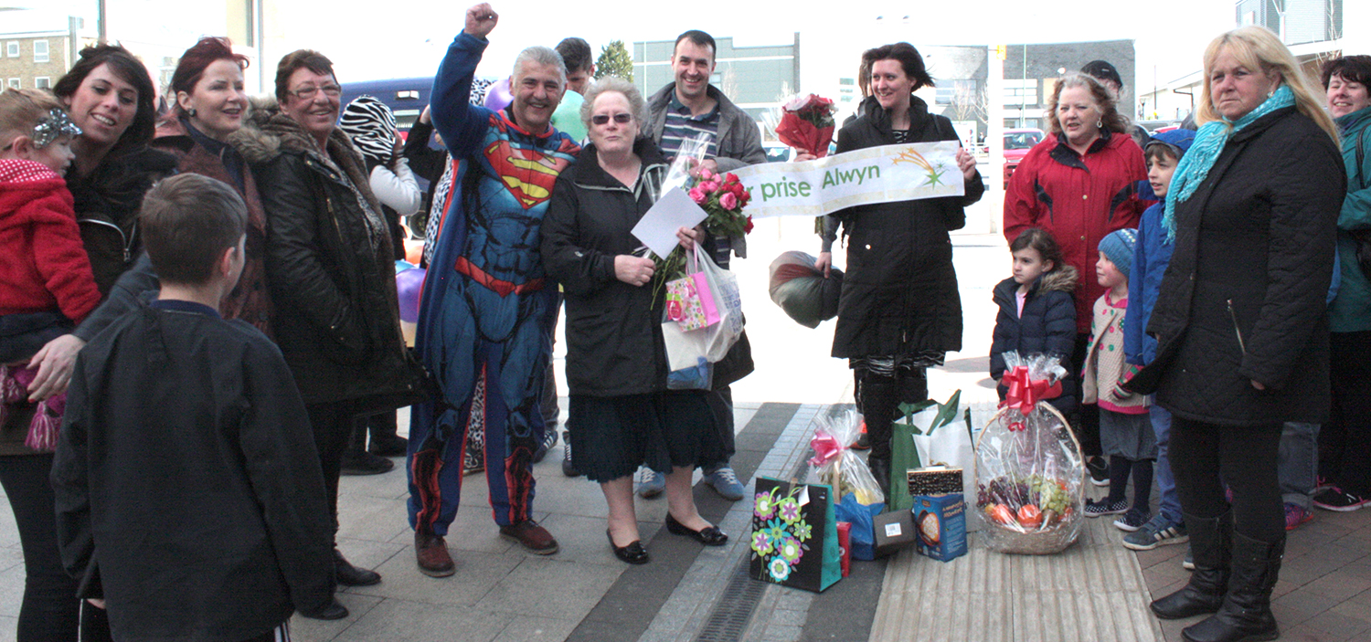 Town Centre Flash Mob for Charity Worker Alwyn