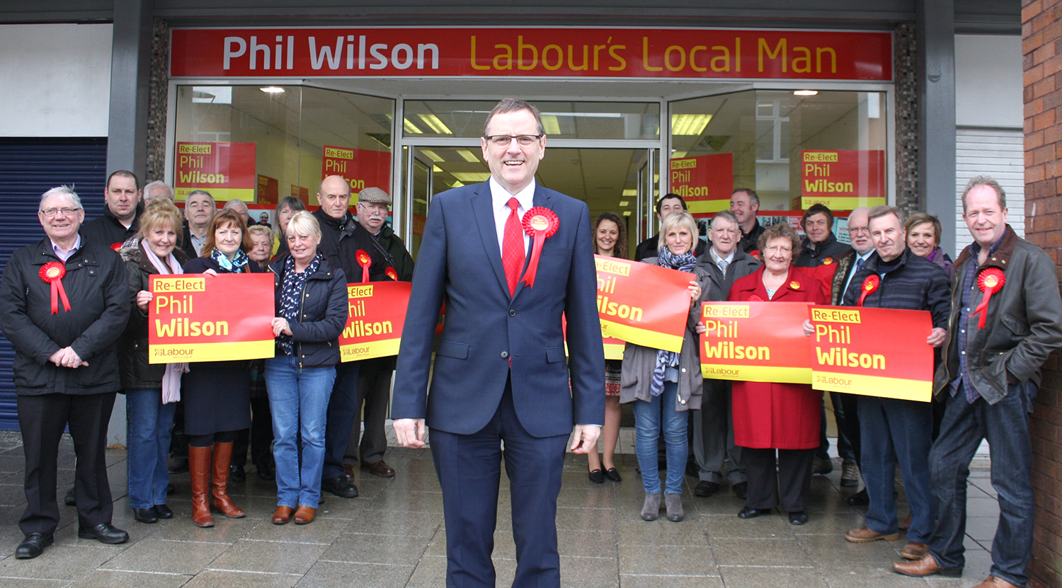 Labour Candidate's Invite to a Cuppa in Town Centre Shop