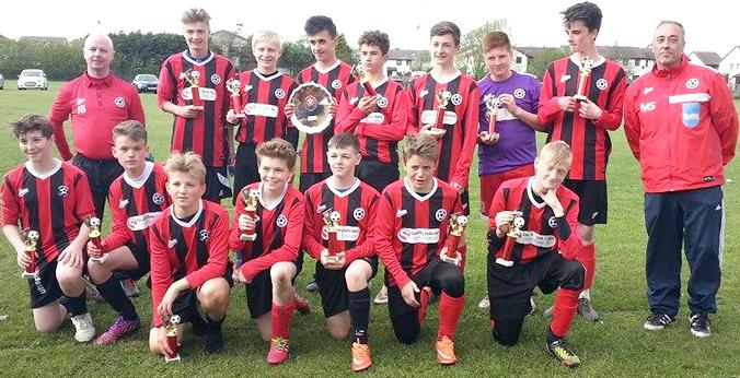 Heighington AFC Under 14's Blackpool Plate Winners