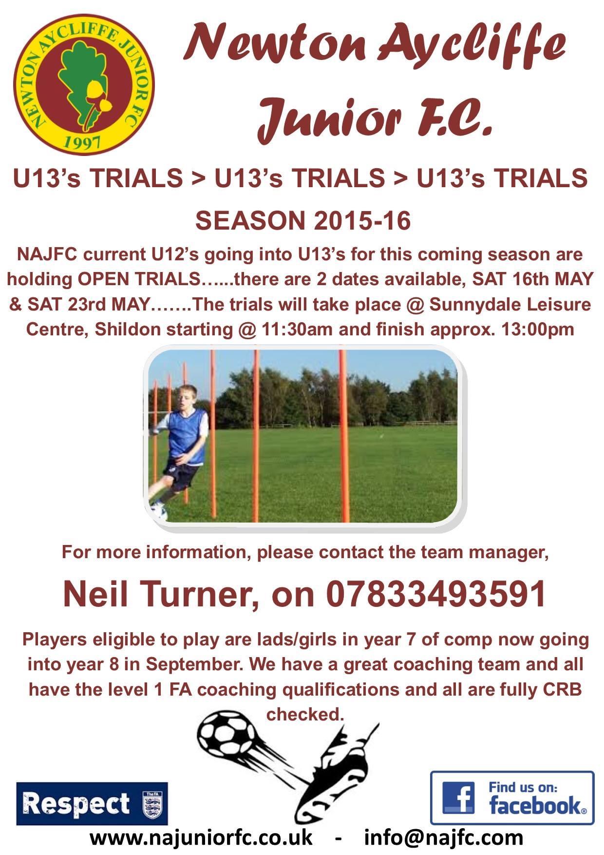 NA Junior F.C. Trials