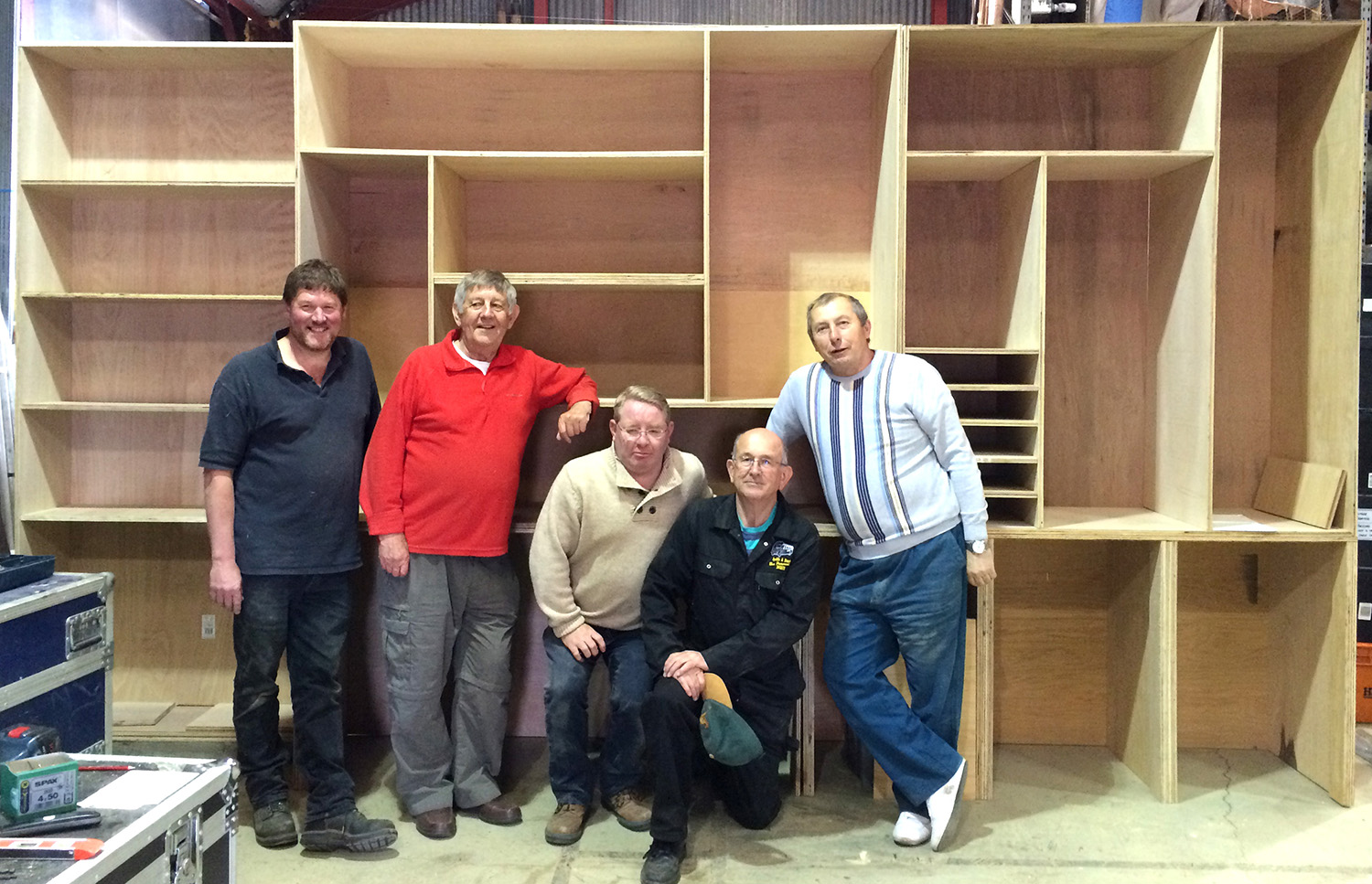Cree Volunteers Build New Cabinet for Greenfield