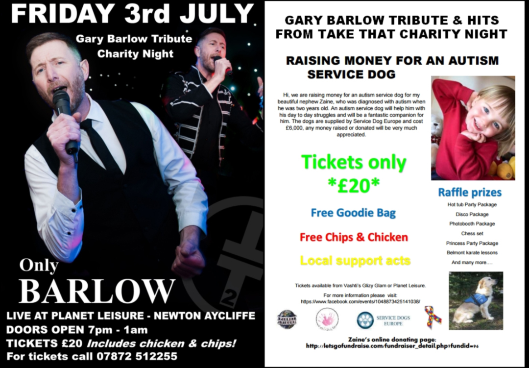 Charity Night at Planet Leisure