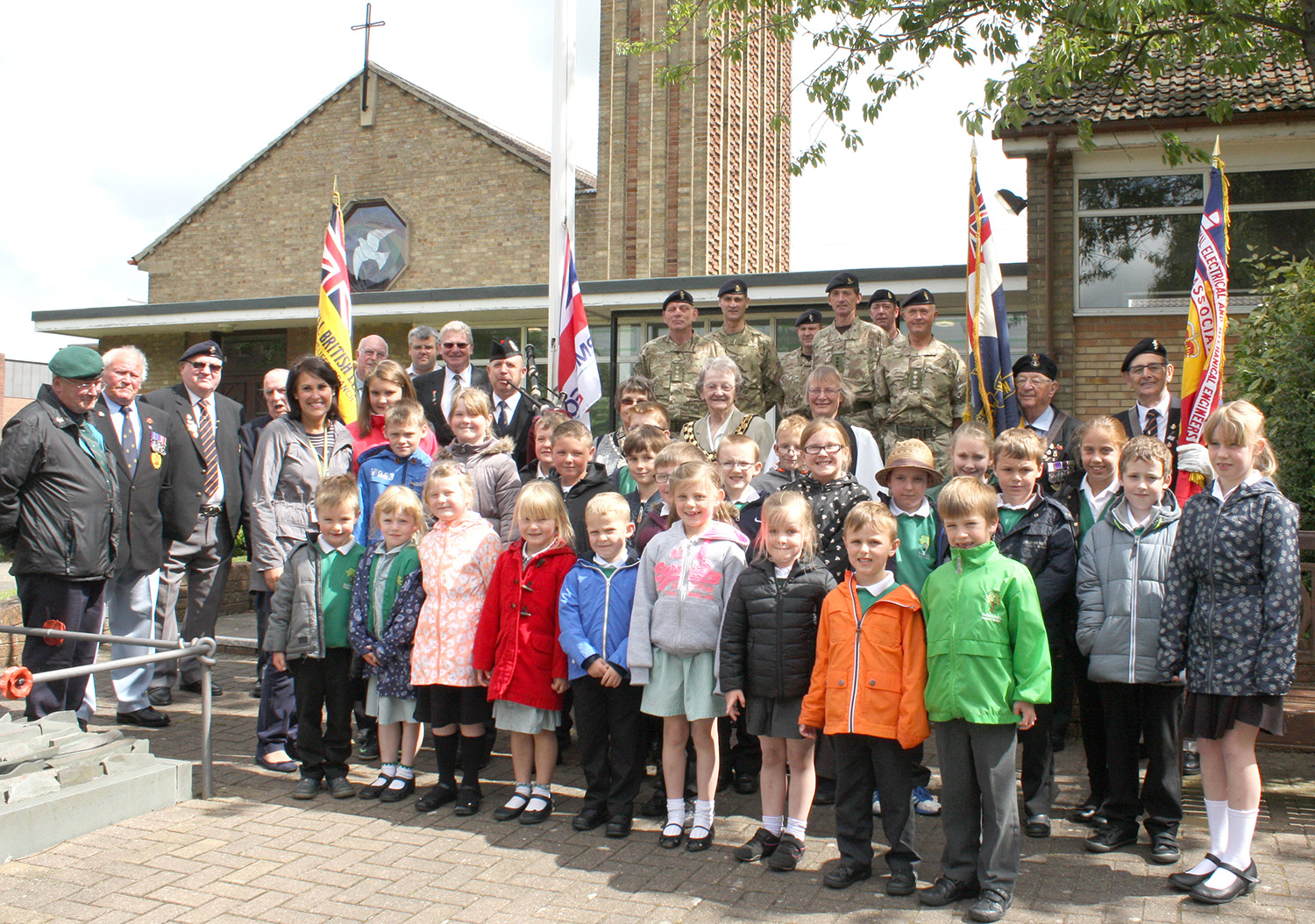 Flag Raised to Mark Armed Forces Day