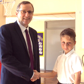 MP Visits Stephenson Way Academy
