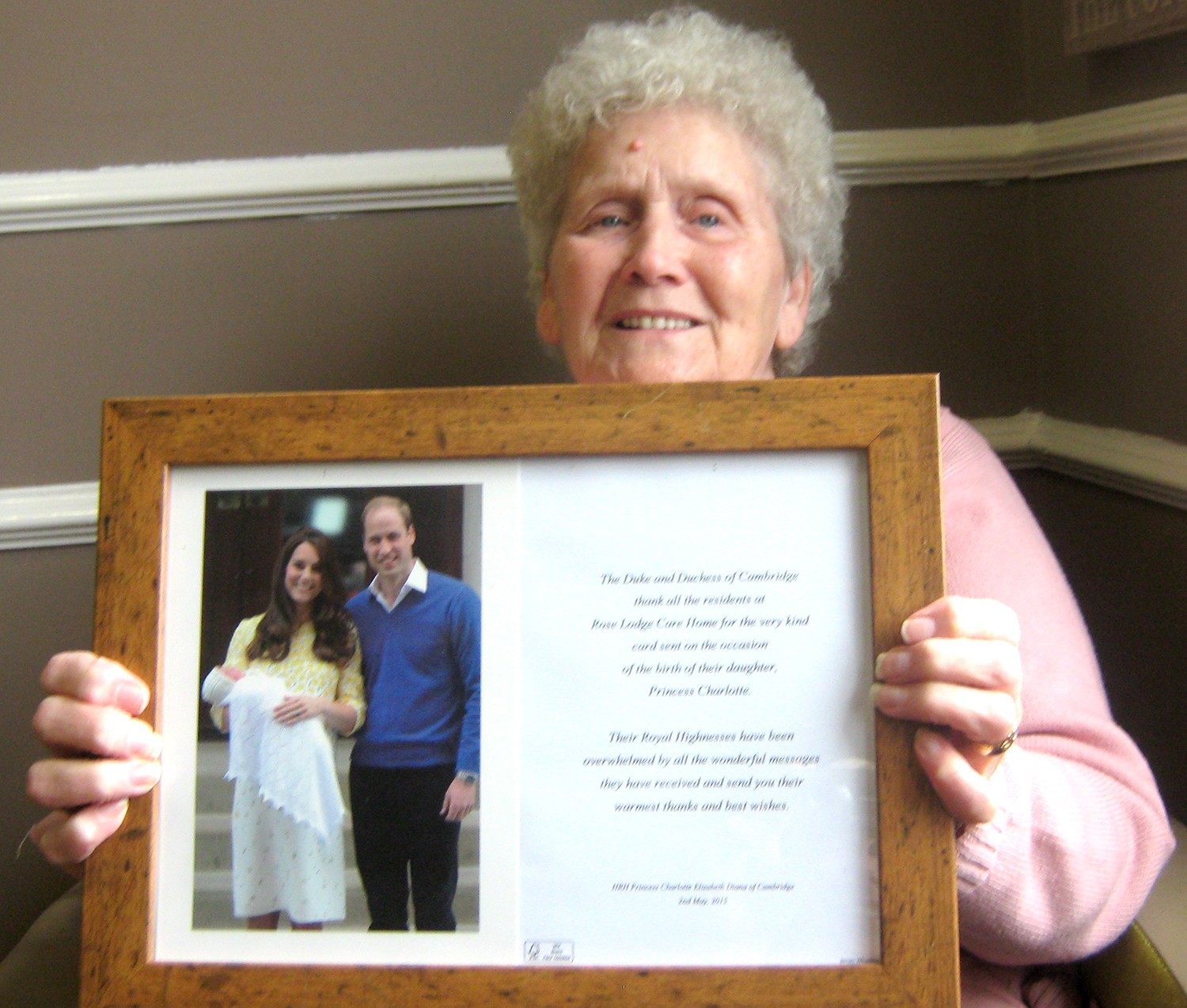 Care Home Receives Thanks from the Palace