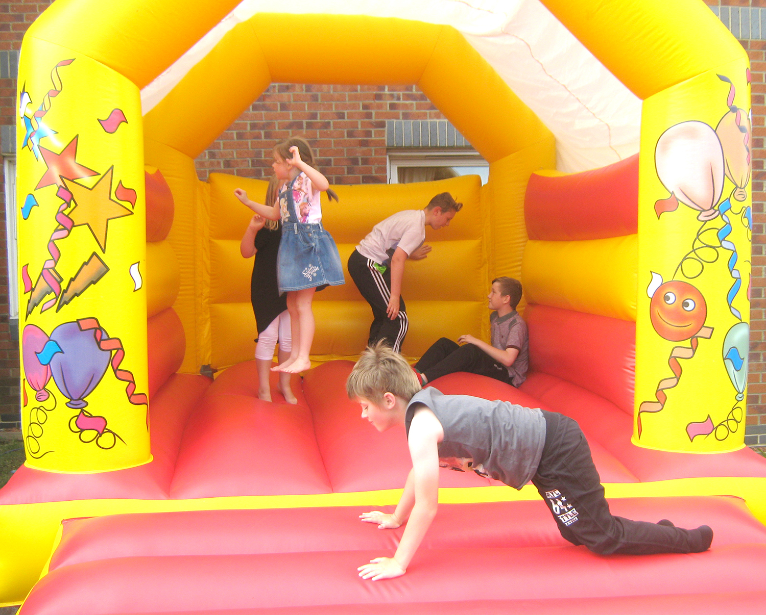 Young and Old at Care Home Summer Fair