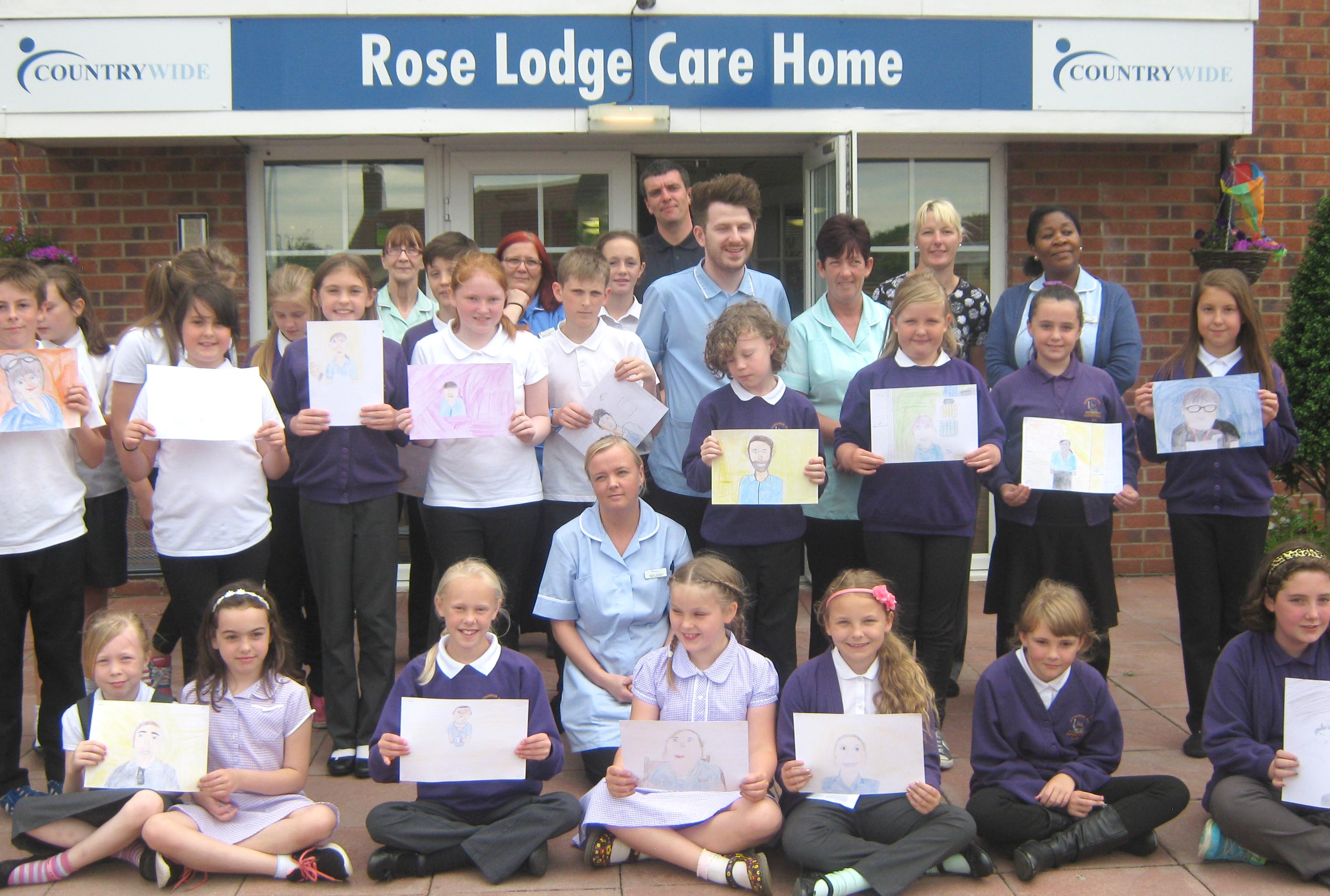 Care Home and Primary School's Joint Art Project