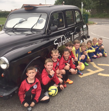 Taxi Firm Sponsors Heighington Under 8's