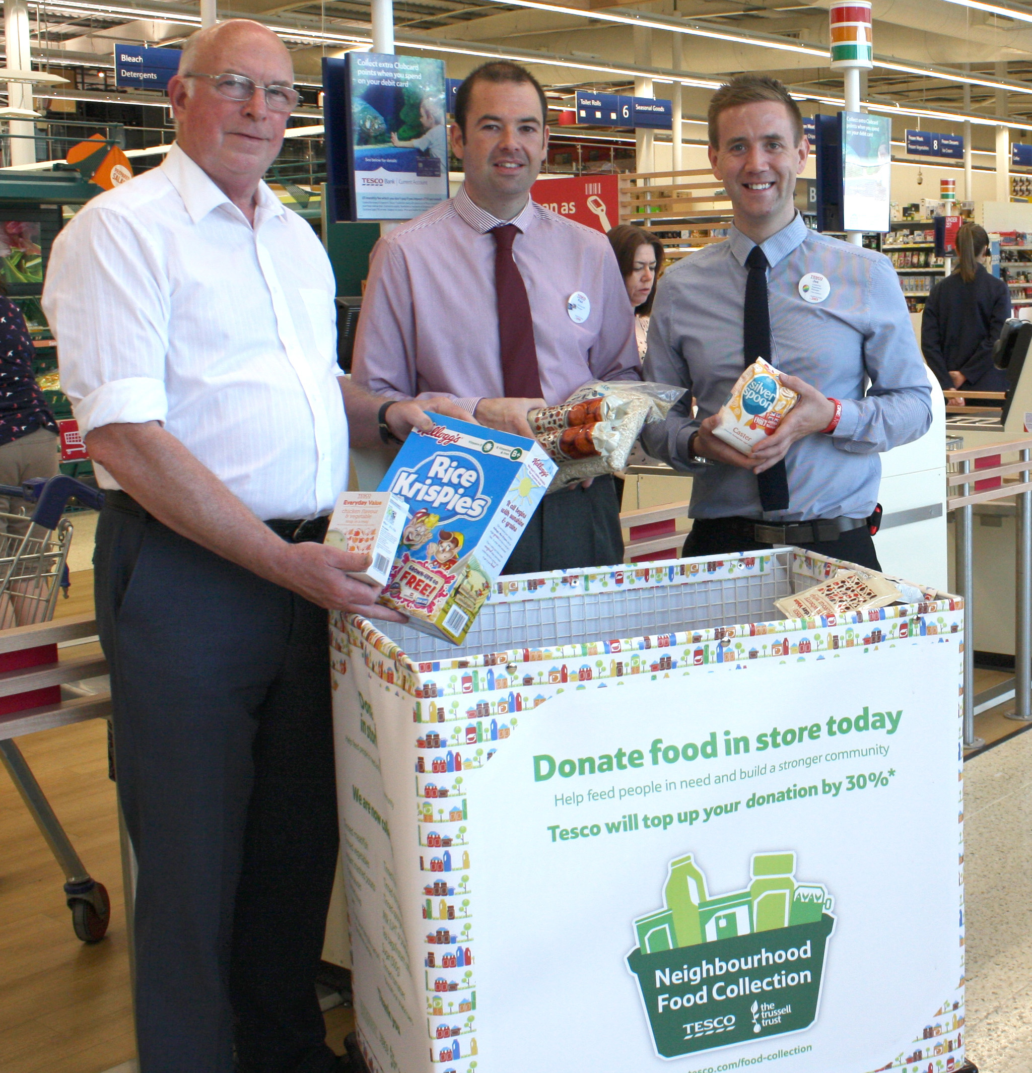 Foodbank Collection Tescos 2nd 4th July Newton News