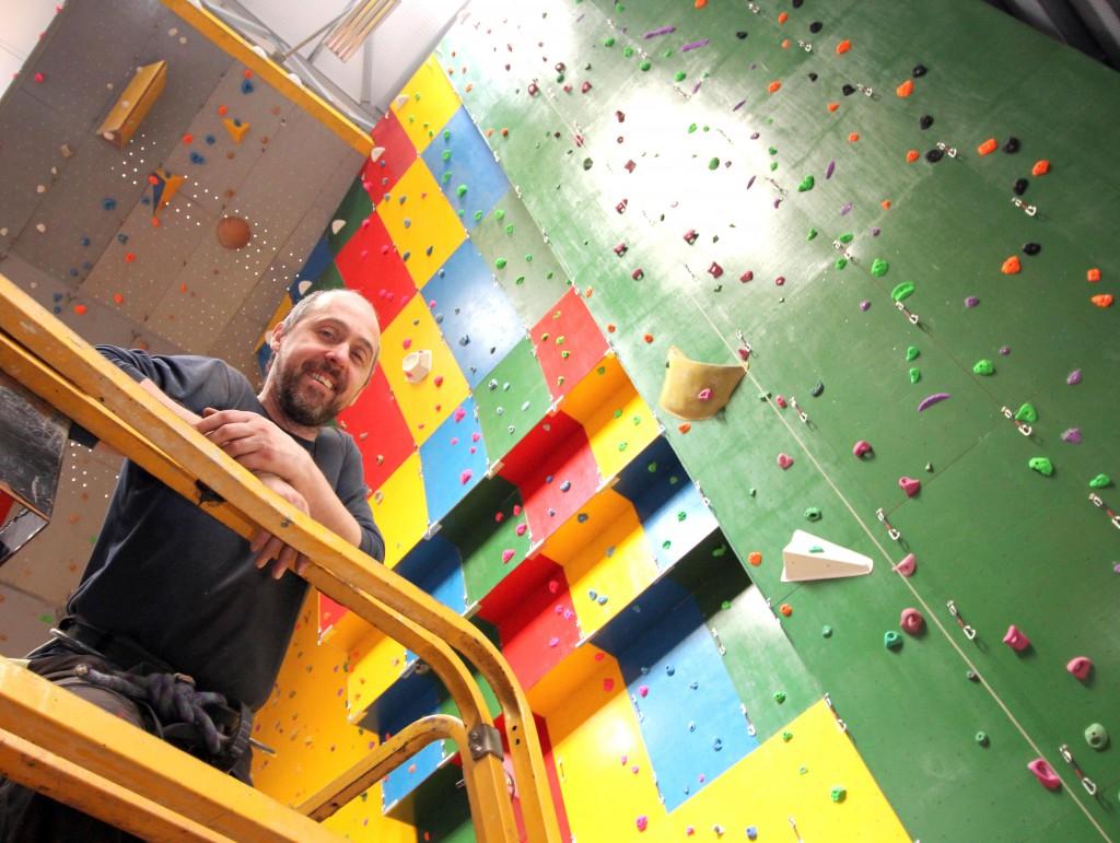 Rockantics boss John Crooks Climbing Centre Manager