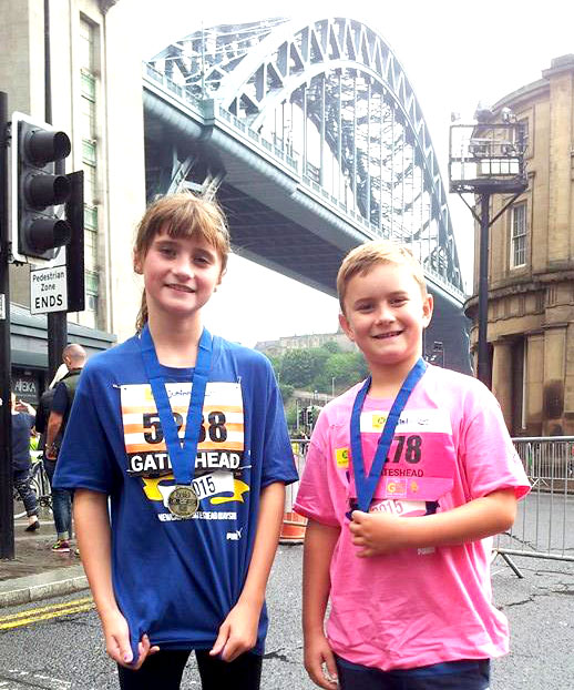 Aycliffe Kids in Great North Run