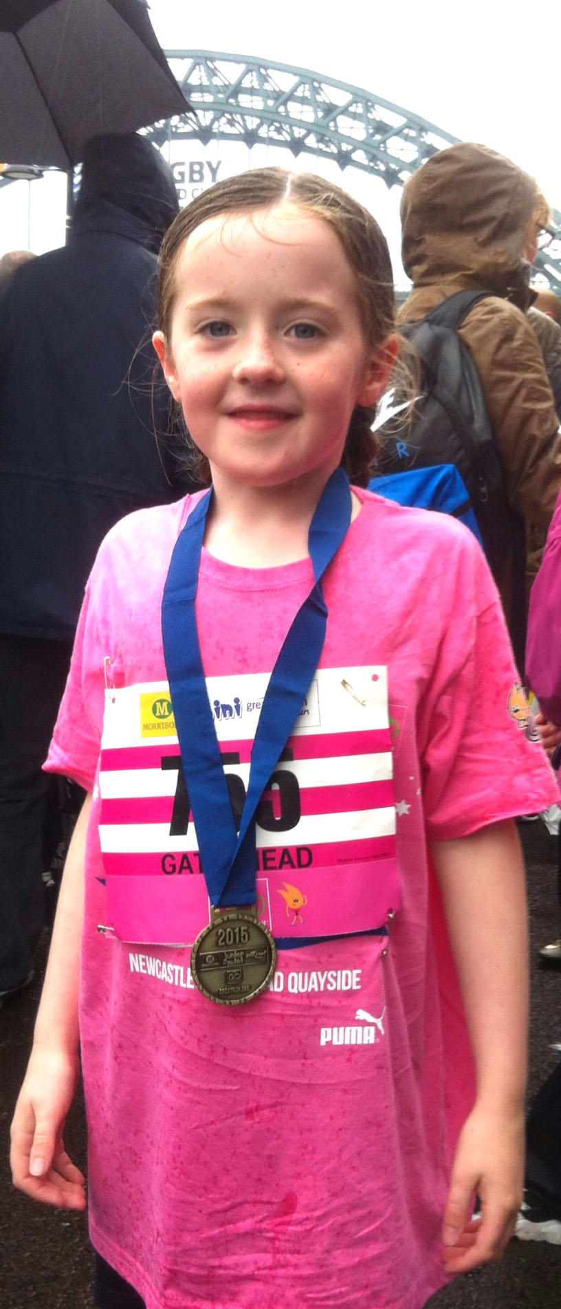 6 year old Aycliffe Girl Completes Mini Great North Run