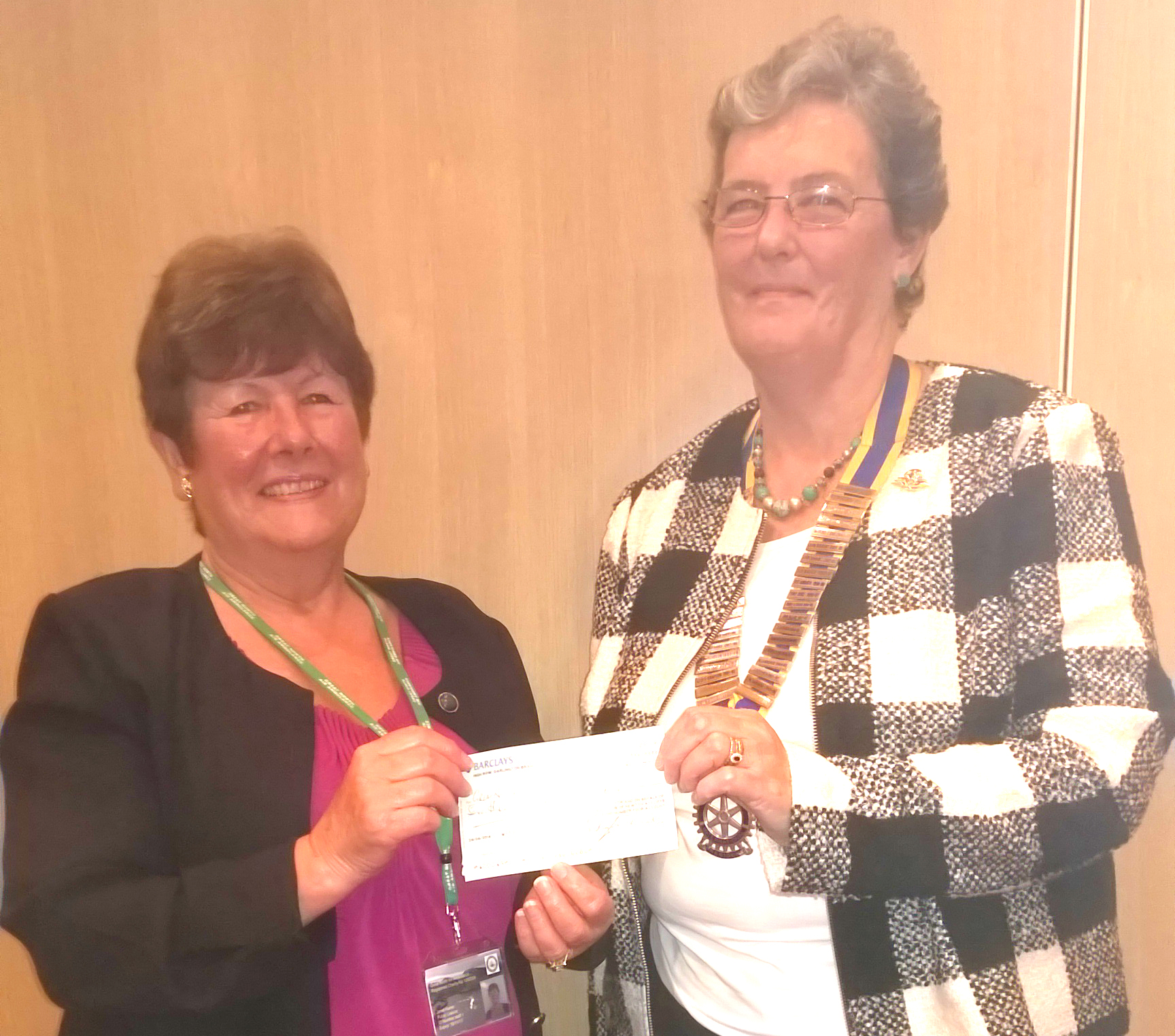 £750 for Air Ambulance from Town's Rotary Club