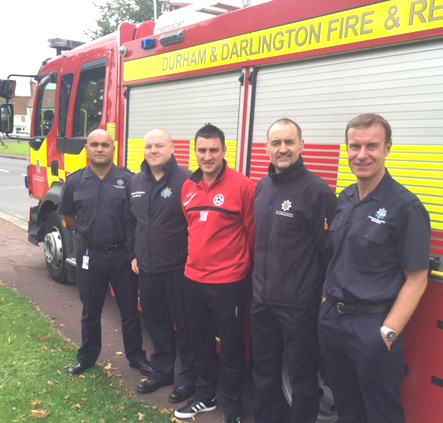 Aycliffe Firemen Give Defibrillator Training