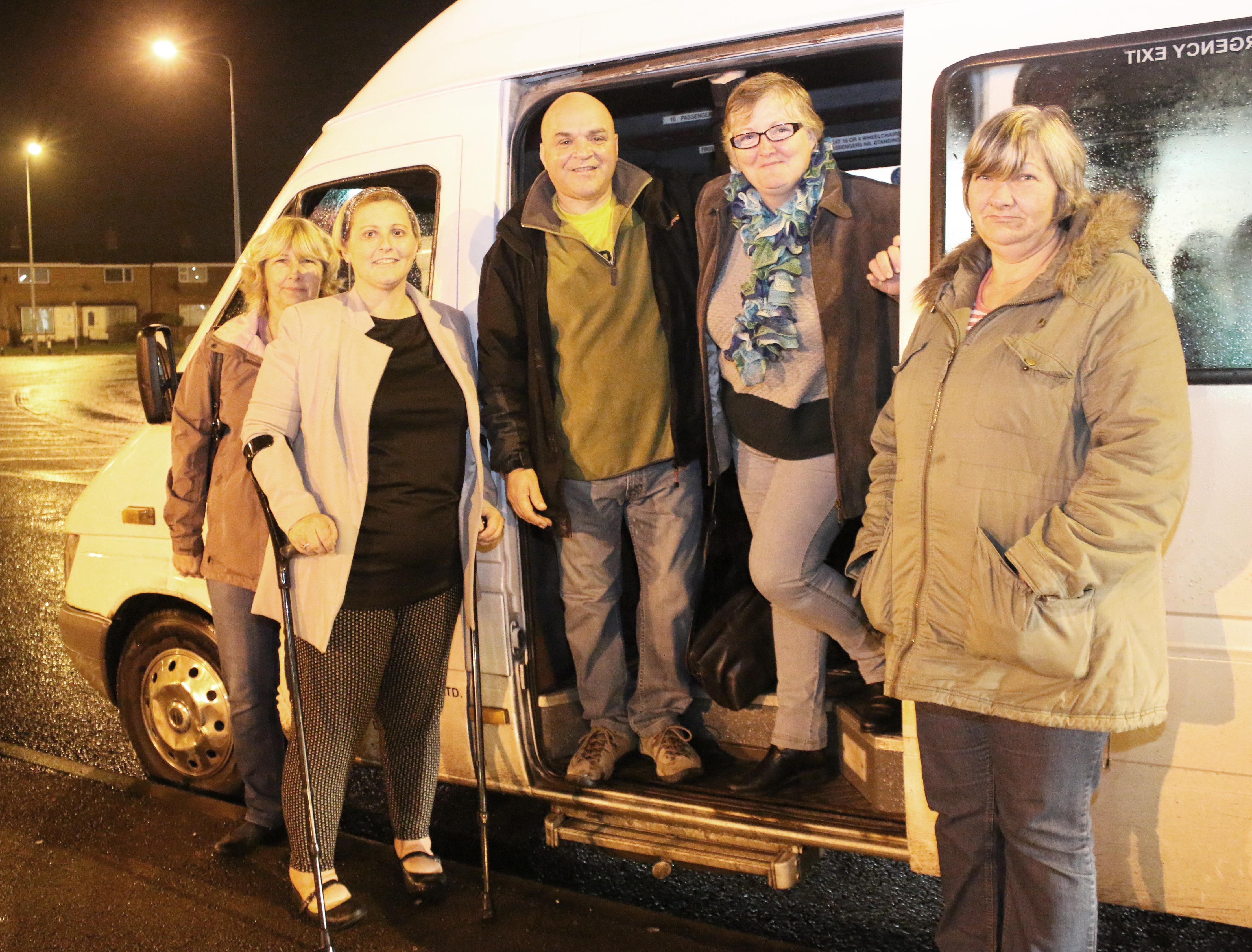 Free Transport to Aycliffe Cancer Group Meetings