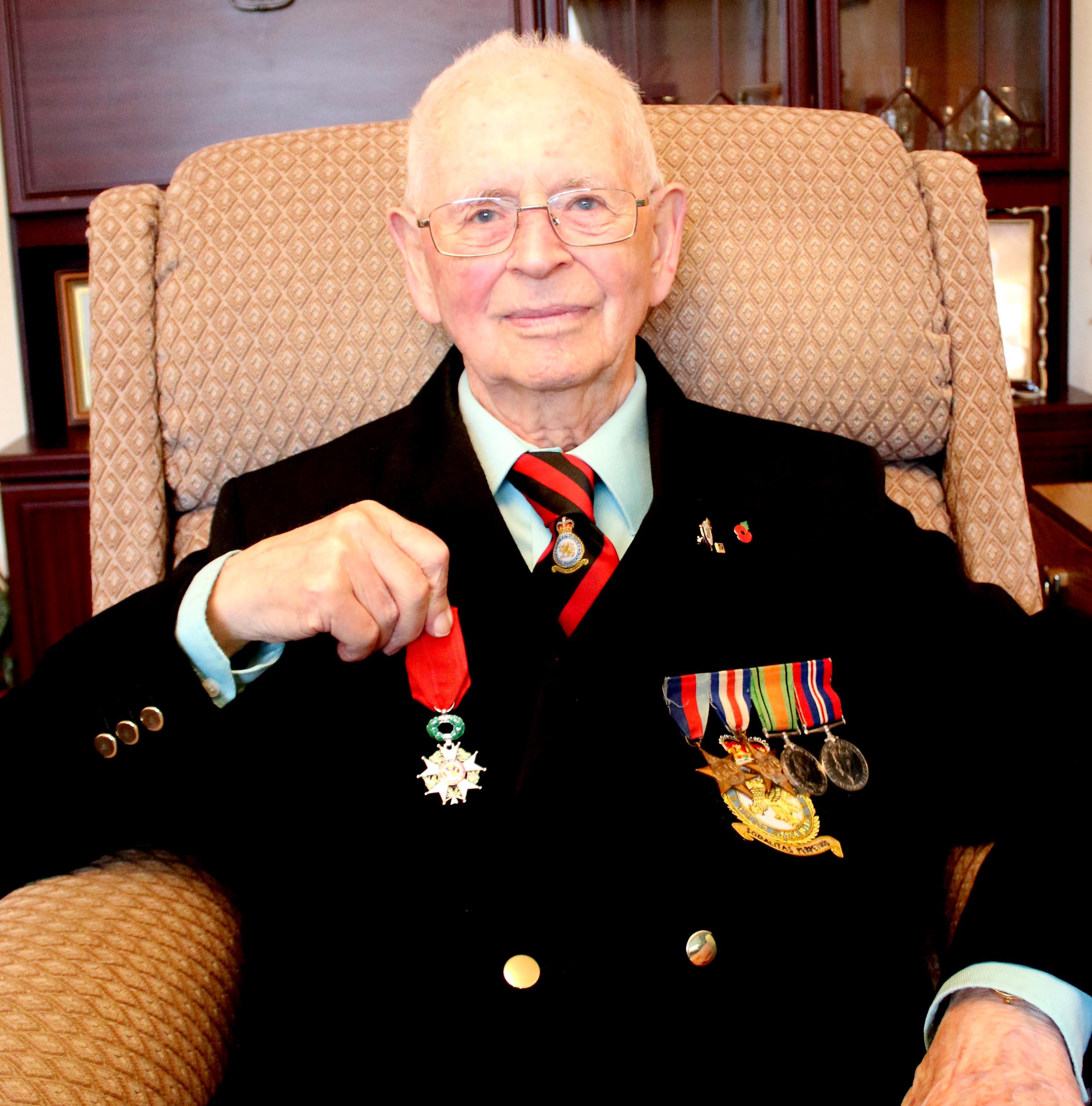Former RAF Sgt. Receives French Legion of Honour