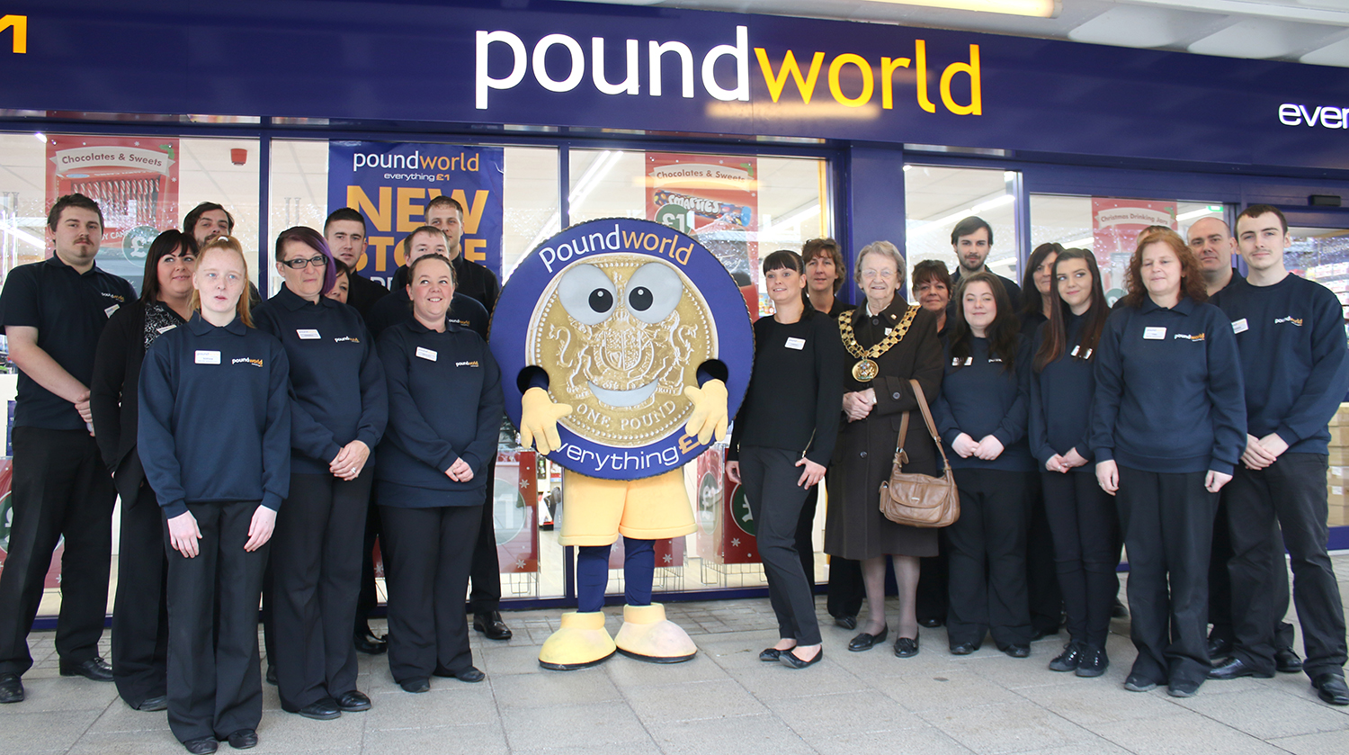 Queues to Bag Bargains as Poundworld Opens