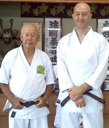 Town Karate Instructor Back from Training in Japan