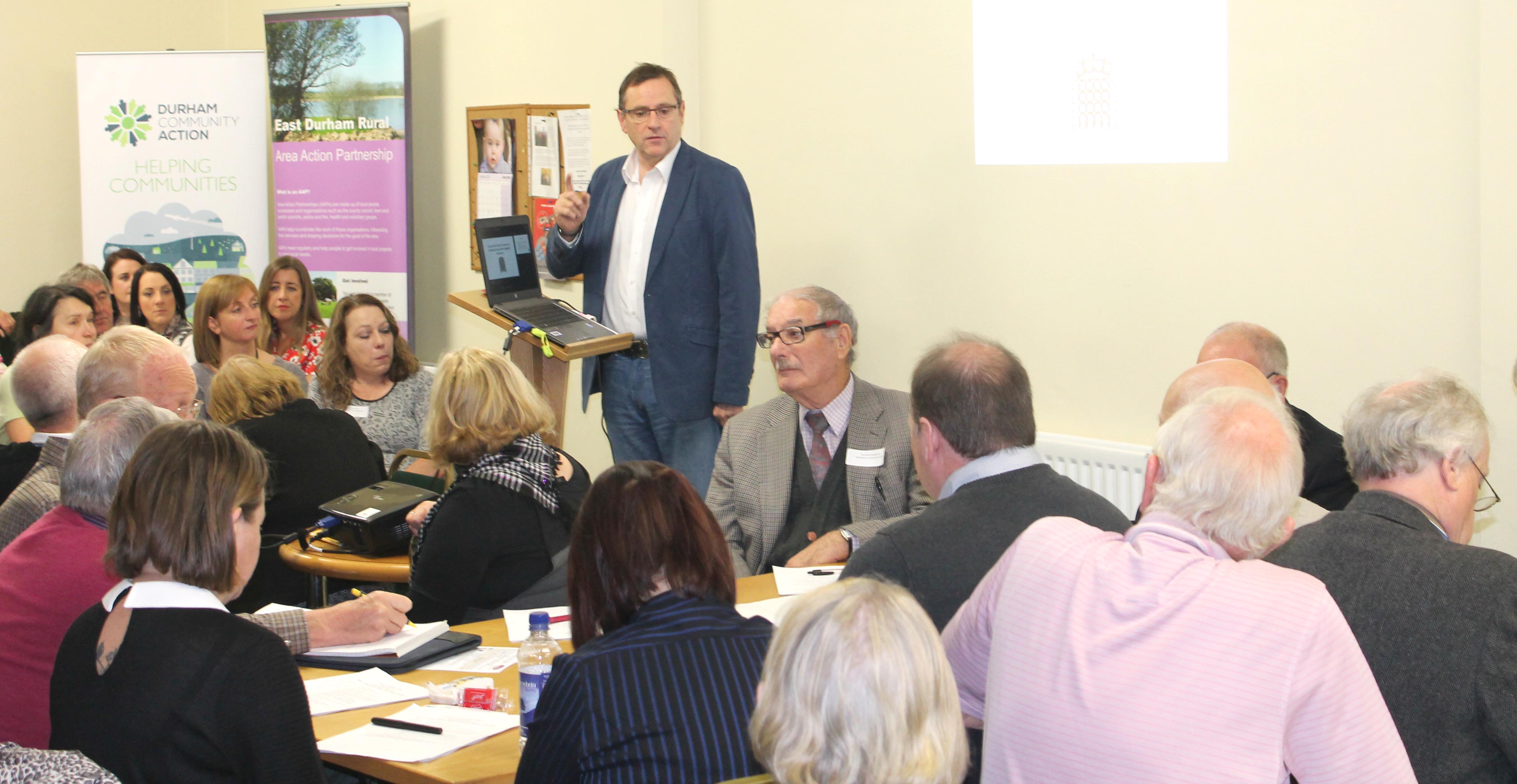 our M.P. Encourages   Community Networking