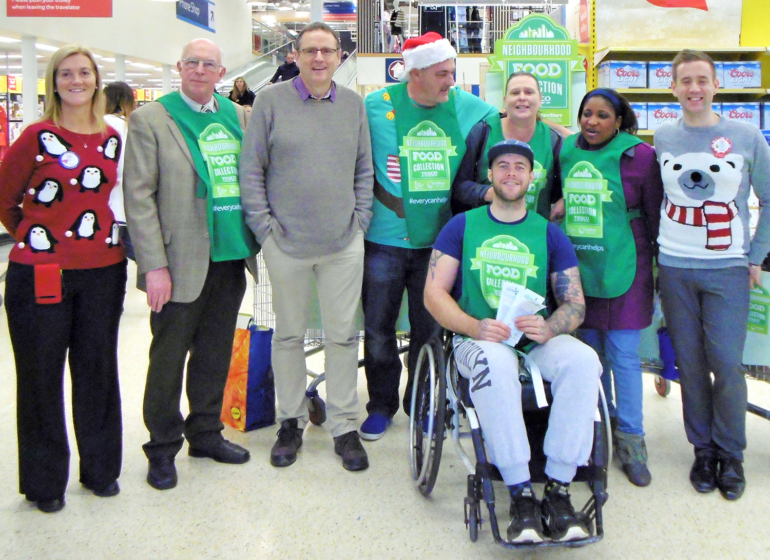 MP at Foodbank Collection