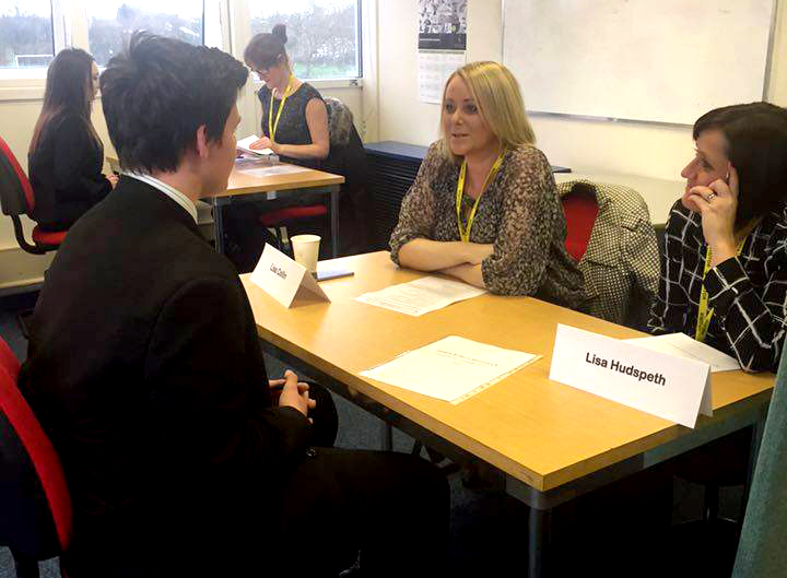 Mock Interviews for Year 11 Woodham Academy Students