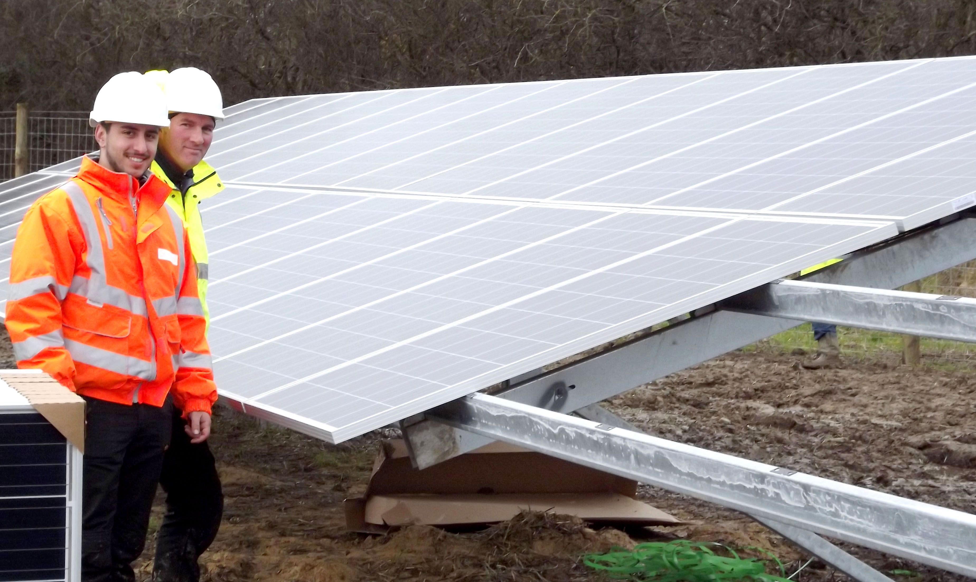 Aycliffe's Solar Energy Farm Nearing Completion