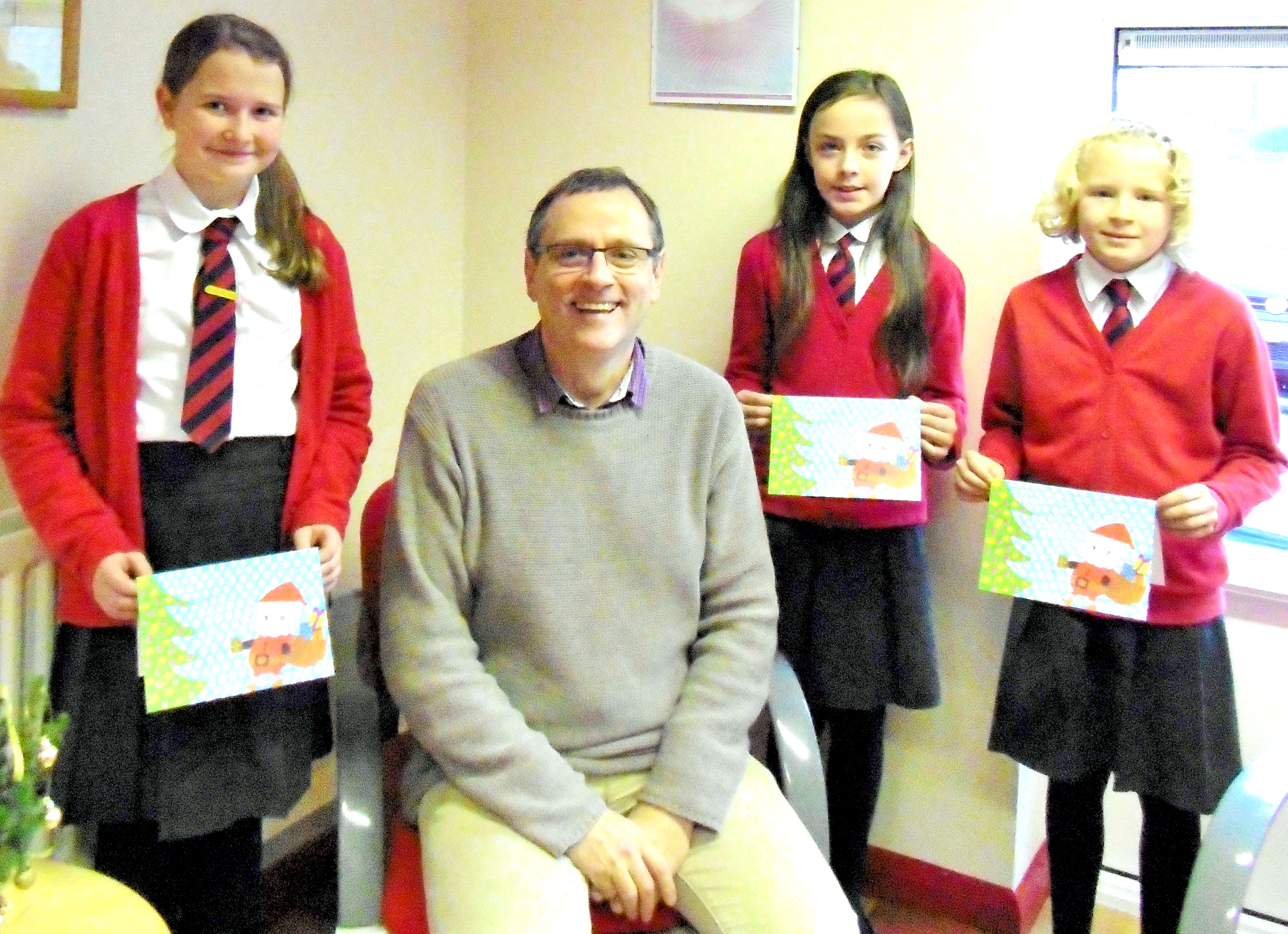 Students Design MP's Christmas Card