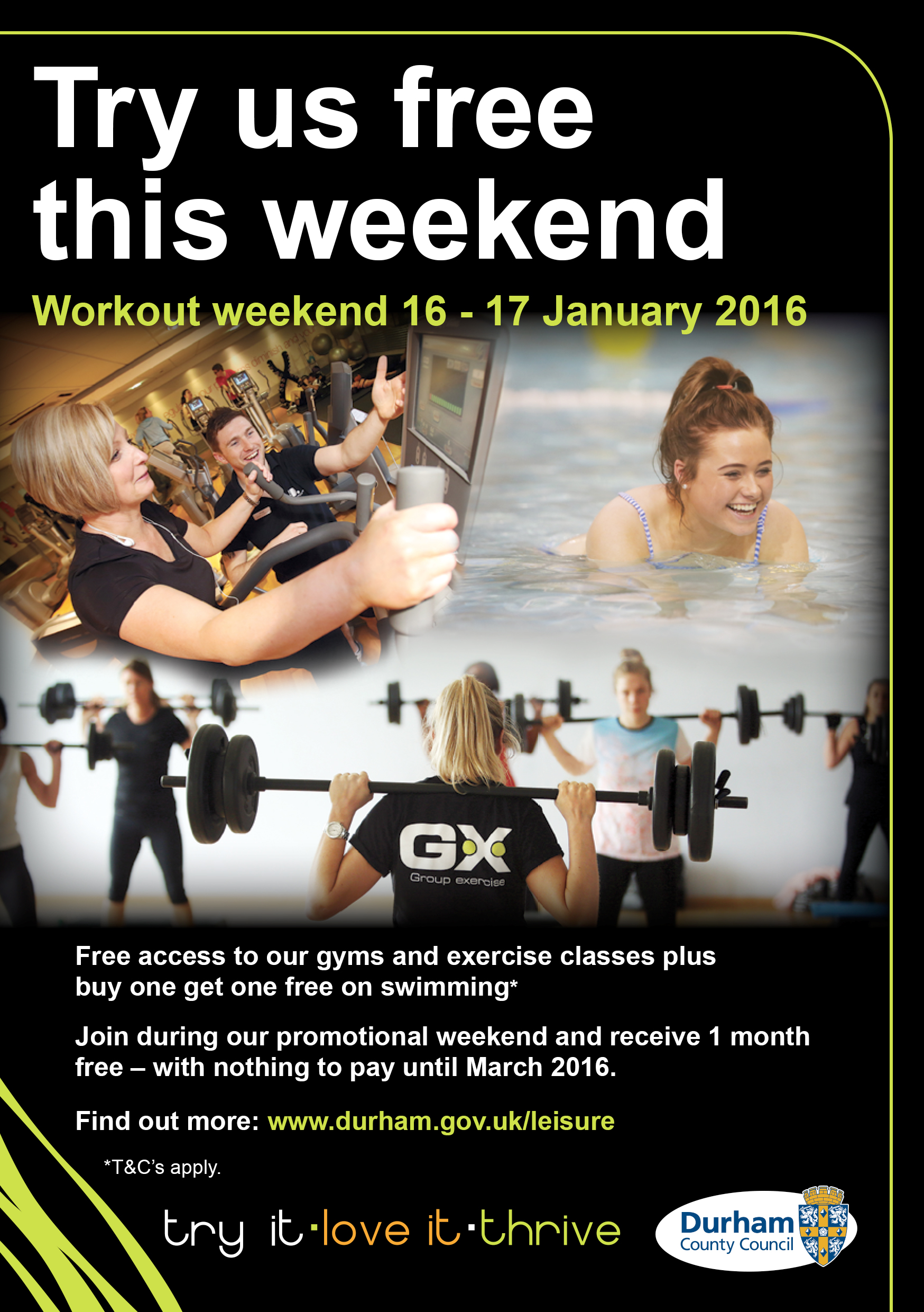 New Year Leisure Campaign Open Weekend