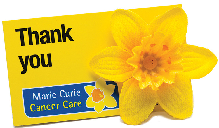 Marie Curie Charity Thanks