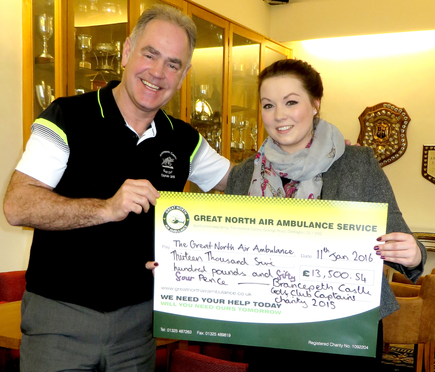 Golf Captain from Aycliffe Chooses to Help GNAAS