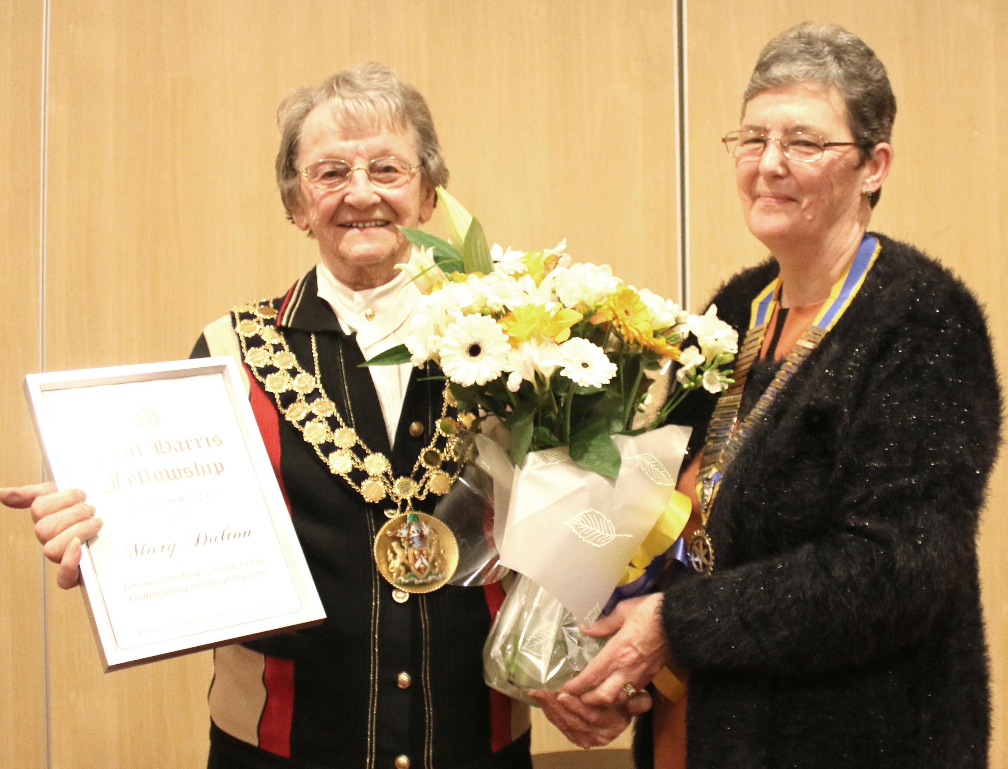 Rotary Club Award for Town Mayor