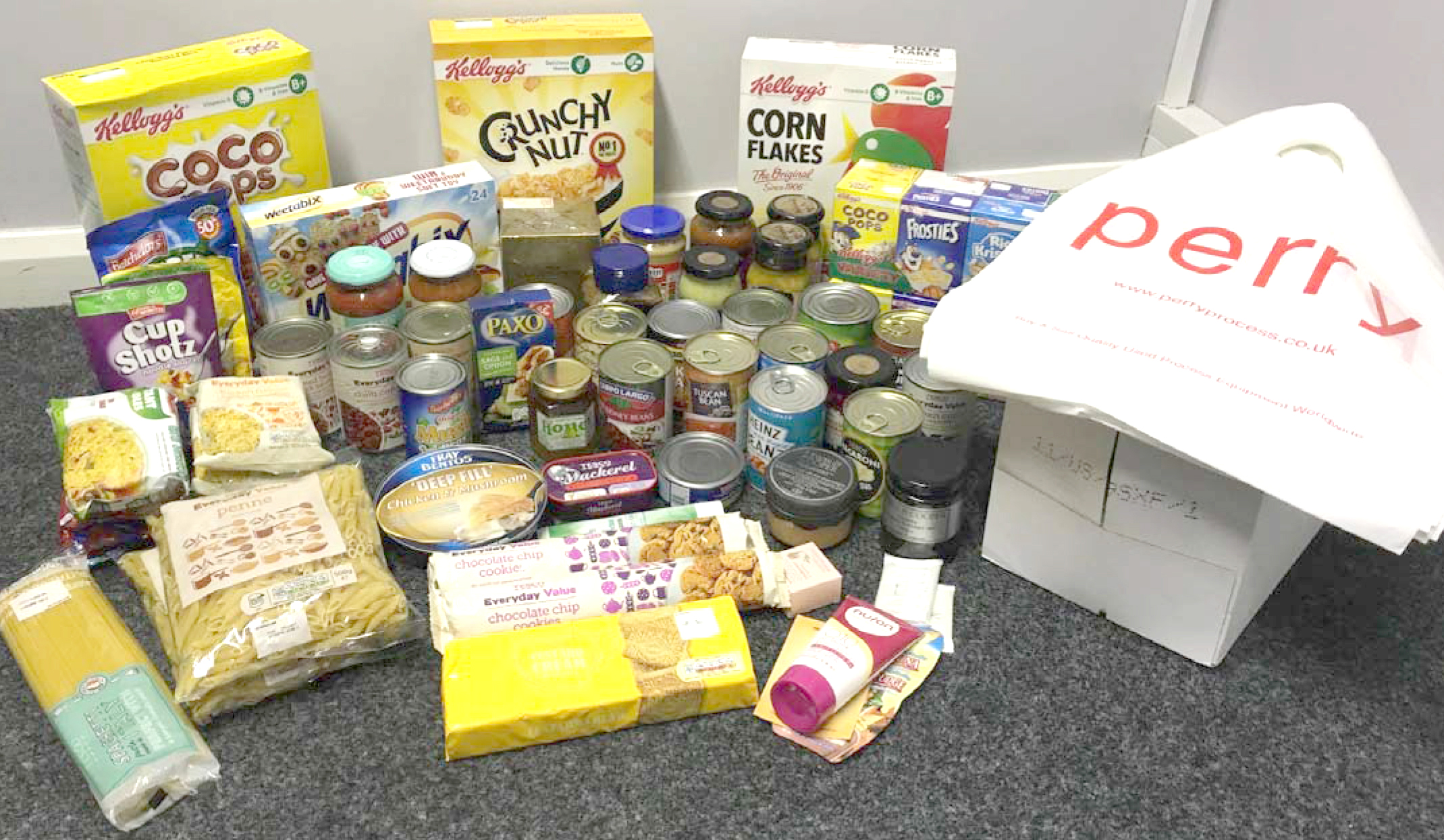 Aycliffe Company Helps Town Food Bank