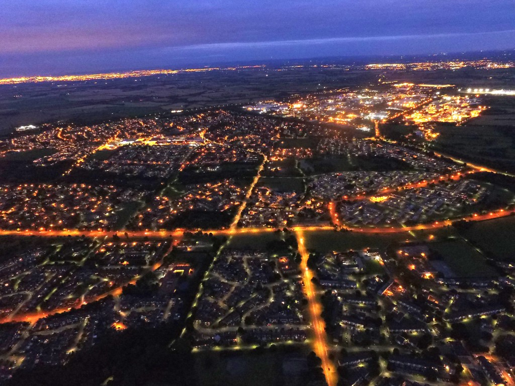 Aycliffe at night