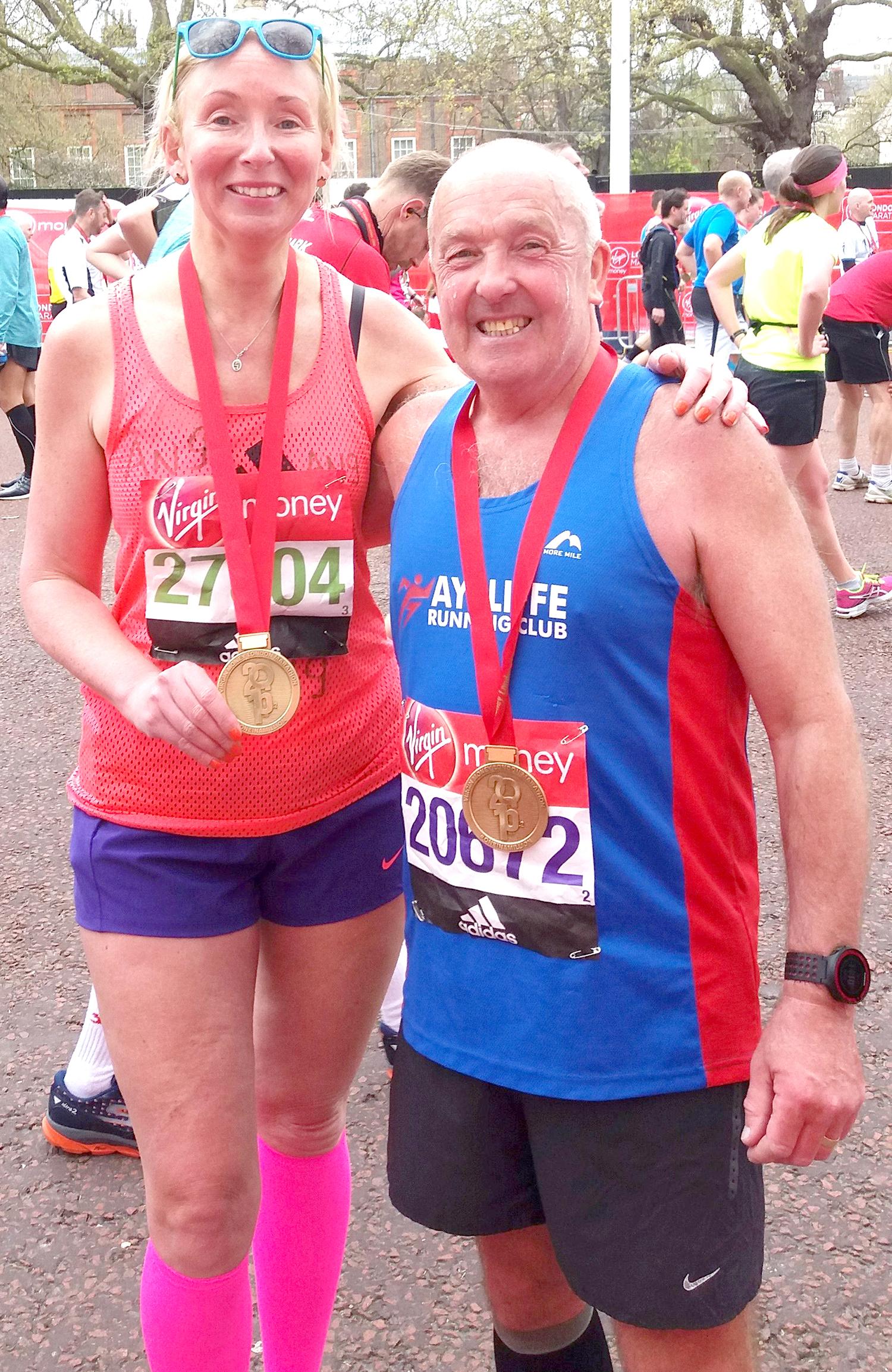Aycliffe Runners in London Marathon