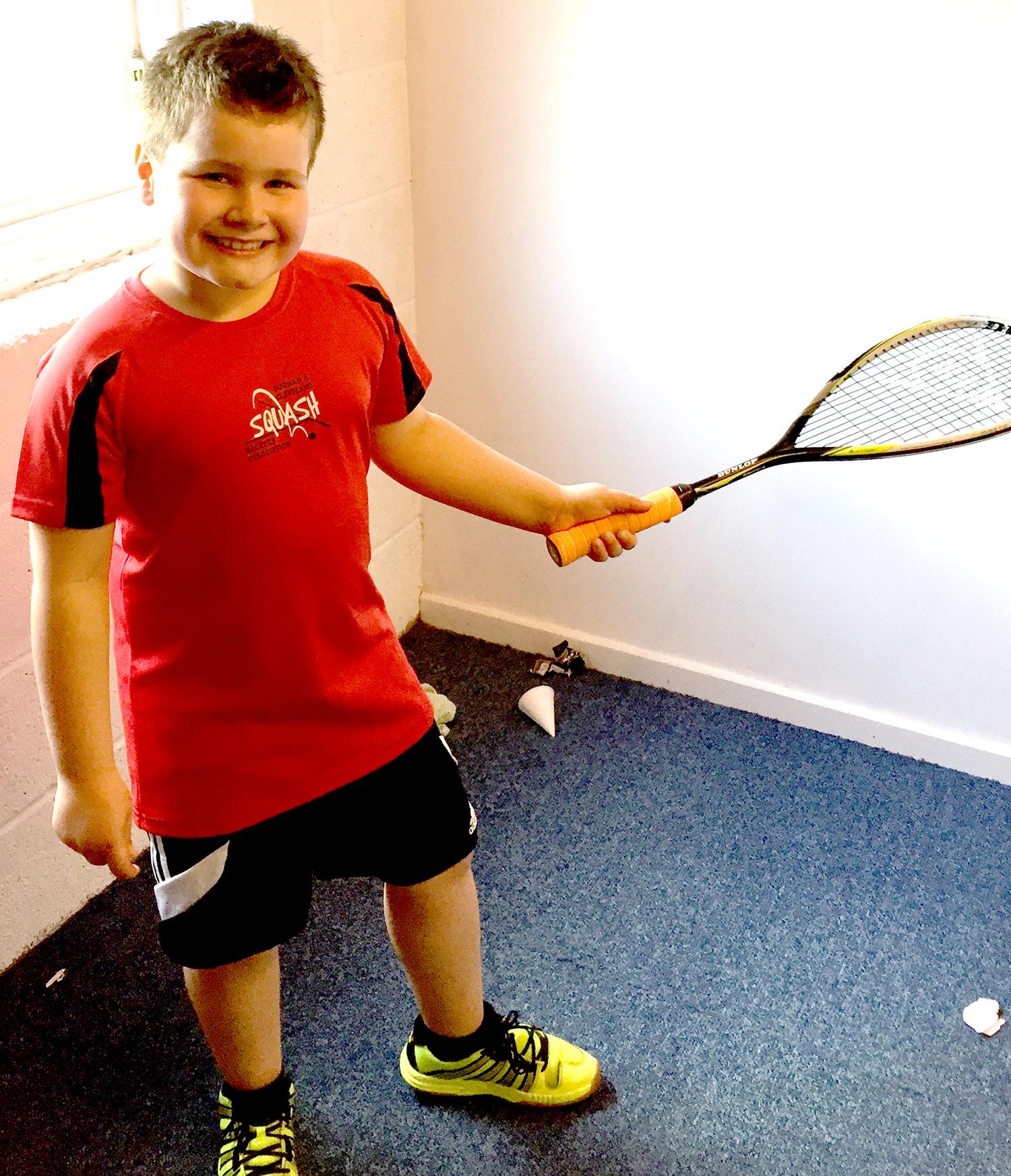 8 Year old Squash Star