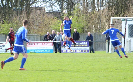 Aycliffe's Centre Forward Nets His 22nd Goal