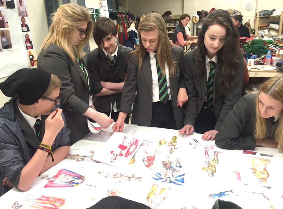Woodham Students Visit Kynren Site