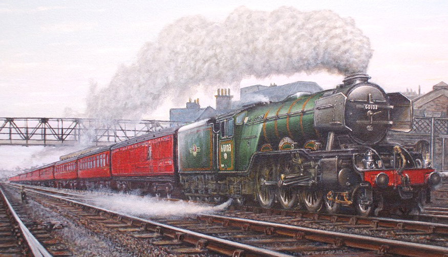 Aycliffe Artist Exhibits  at the Rail Museum
