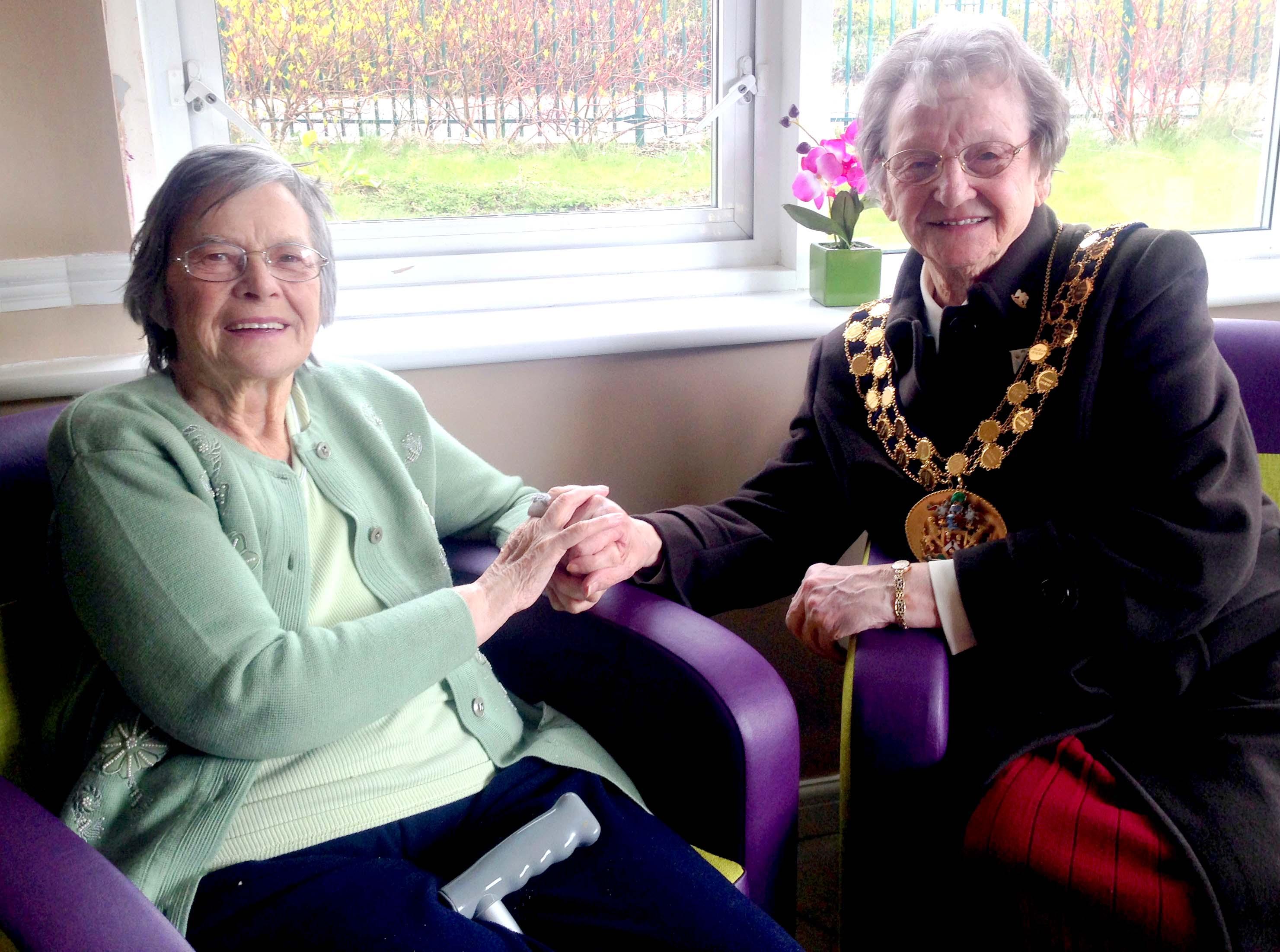 Mayor Opens Care Home Coffee Bar