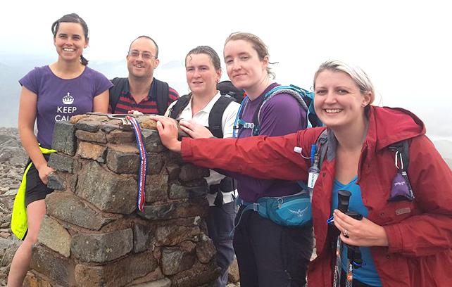 Vet's  Climbing Staff Raise £3225 for Charity