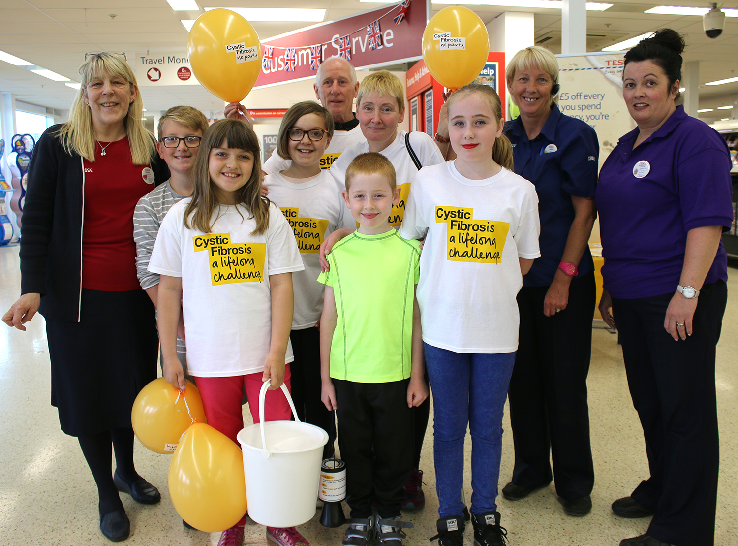 Aycliffe Tesco Help Cystic Fibrosis Charity
