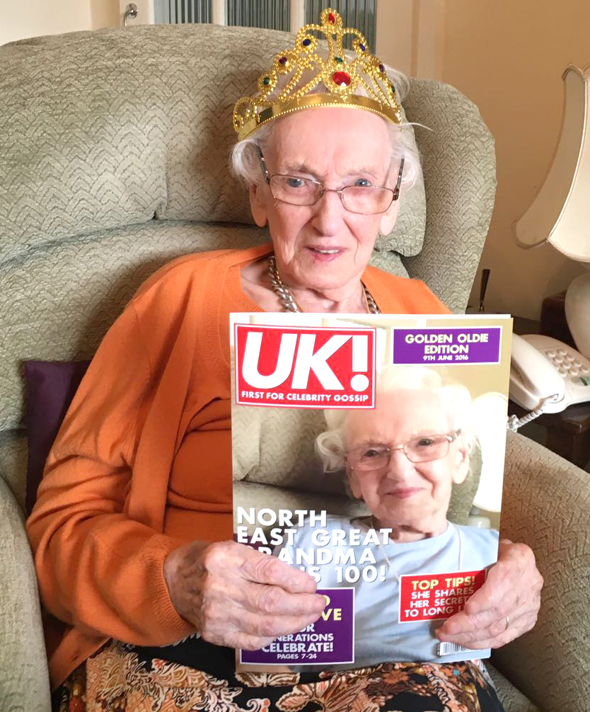 Centenarian Sends  Thanks for Good Wishes