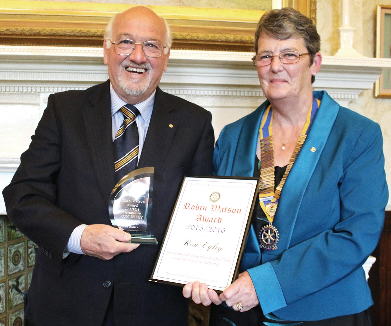 Rotary Honours Ron