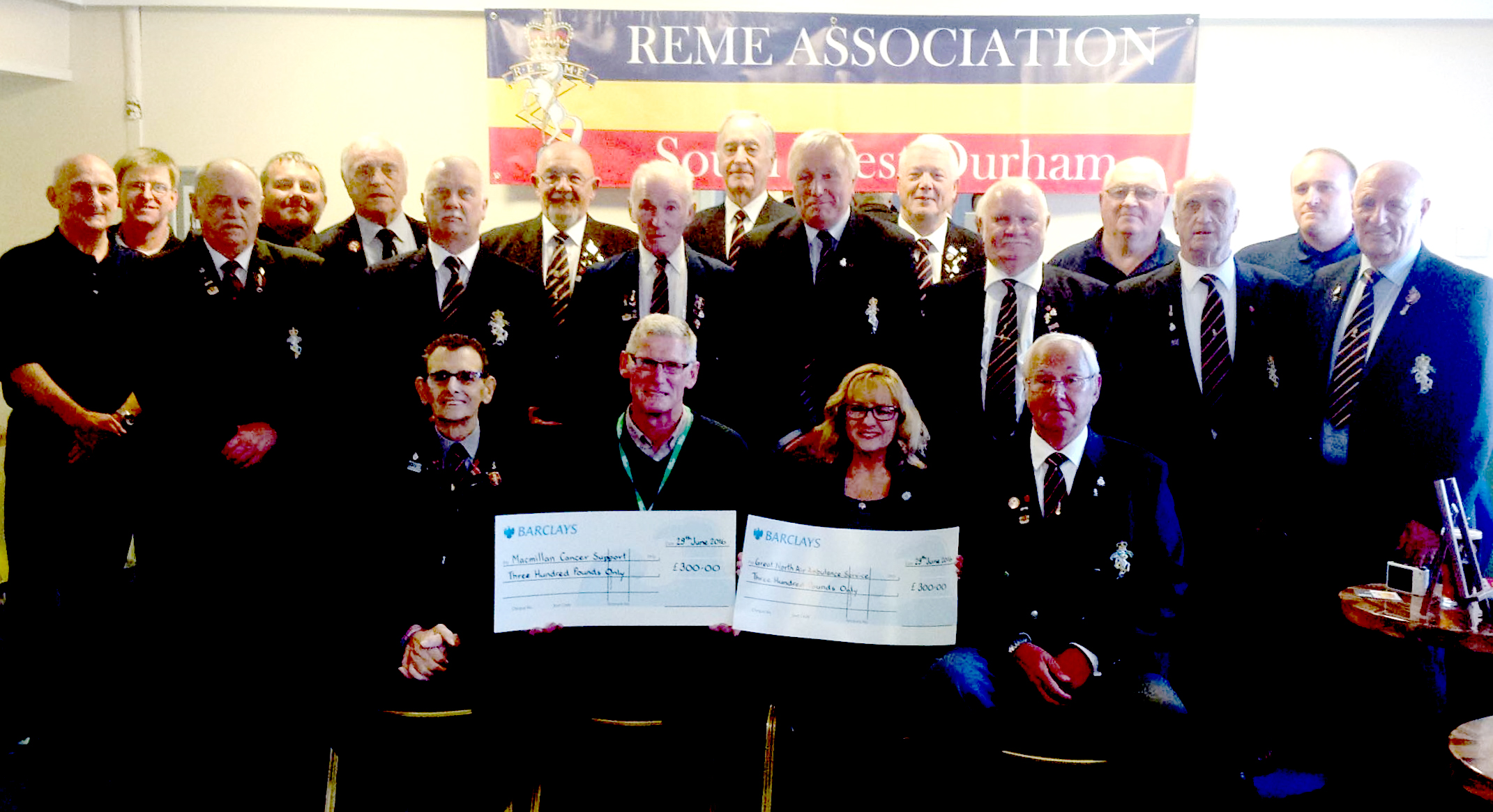 REME Association Donate £600 to Local Charities