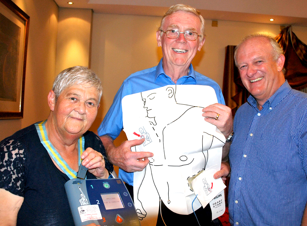 'Gift of Life' Defib Demonstration For Aycliffe Rotarians