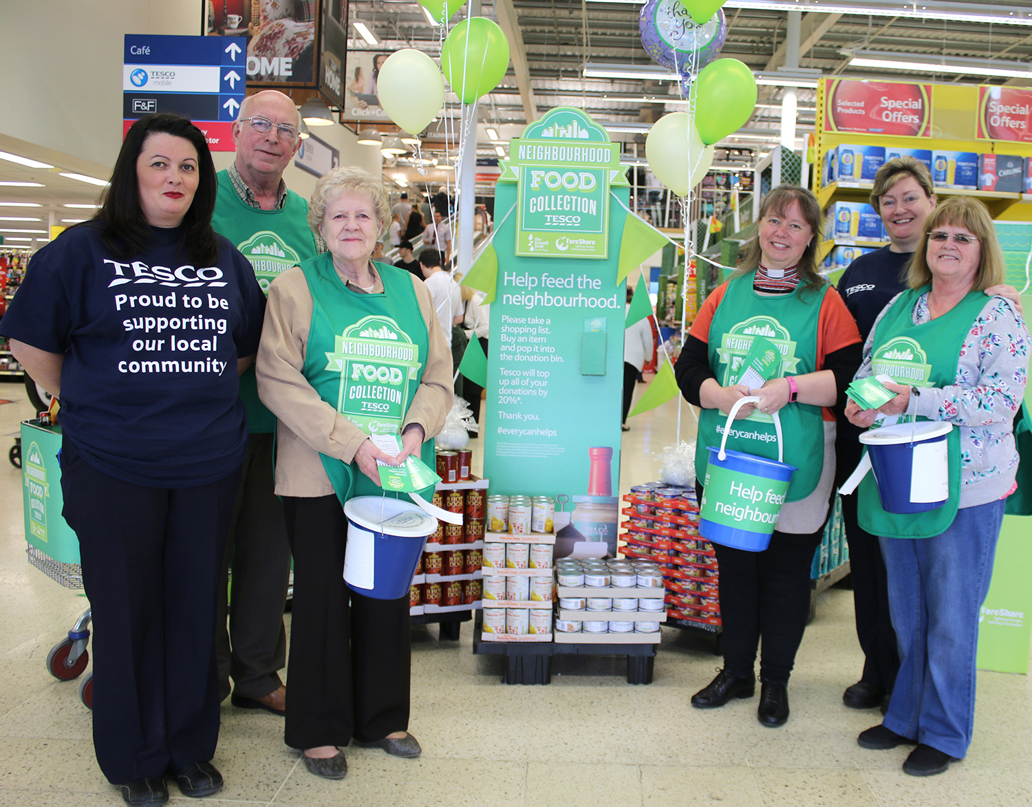 Tesco Customers Stock Foodbank Newton News