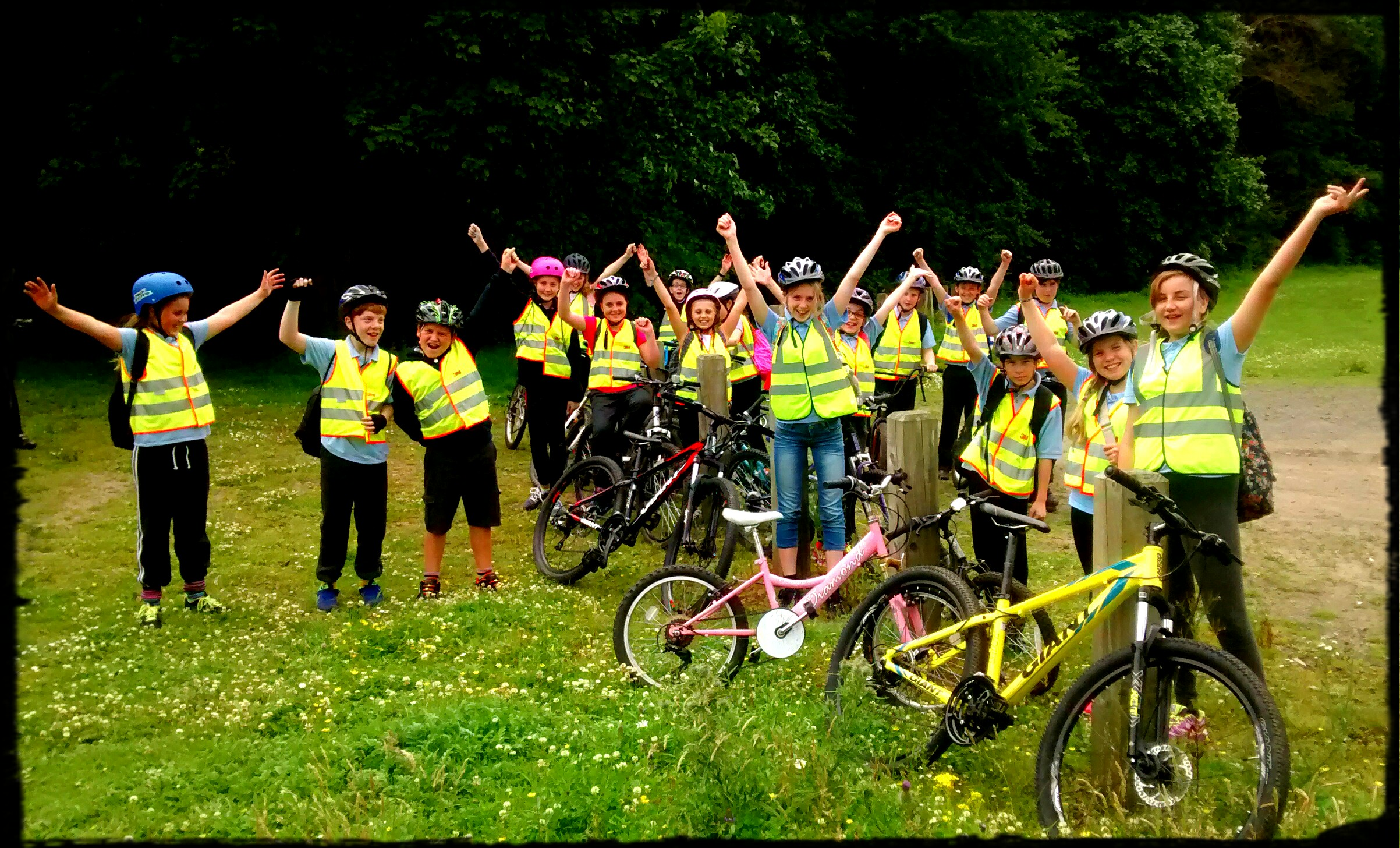 Pupils Cycle to Locomotion Museum